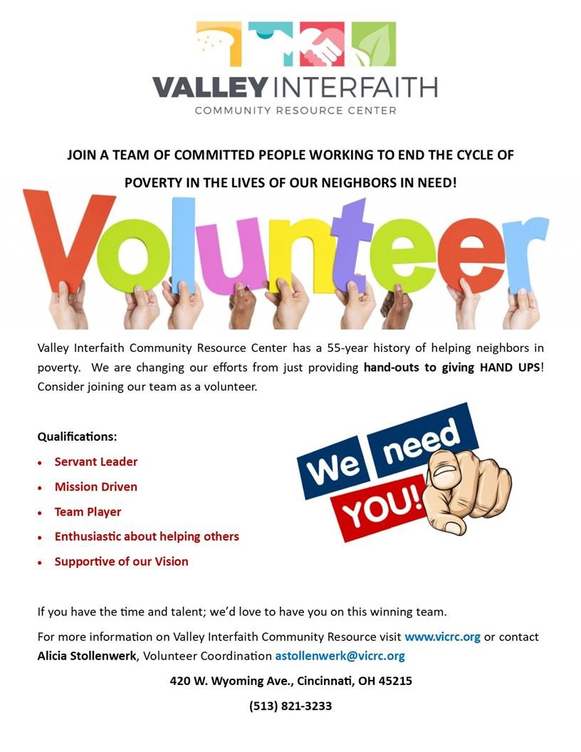 JOIN OUR VOLUNTEER TEAM!